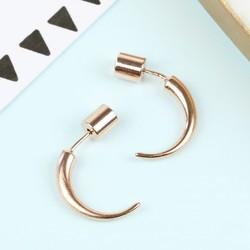 Small Rose Gold Horn Earrings