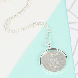 Hand-Stamped Spinning Disc Necklace