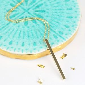 Shiny Gold Bar Necklace