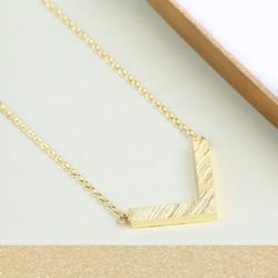 Small Gold Chevron Necklace