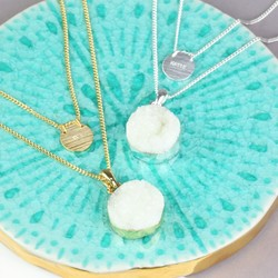 Personalised Layered Druzy Necklace
