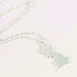 Hand-Stamped Silver Mainland UK Necklace