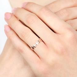 Delicate Rose Gold Leaf Ring