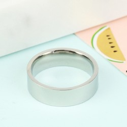 Wide Stainless Steel Band Ring
