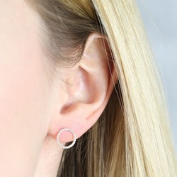Sterling Silver Twisted Circle Earrings