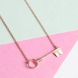 Rose Gold Key Necklace