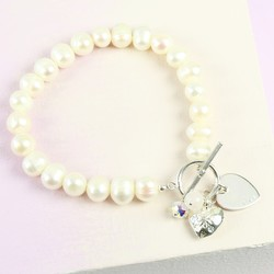 Handmade Freshwater Pearl Bracelet with Name
