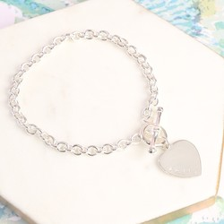 Personalised Sterling Silver Toggle Bracelet