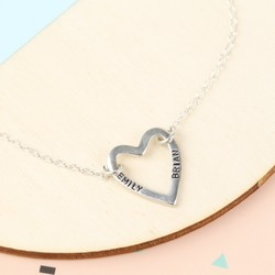 Personalised Sterling Silver Heart Bracelet