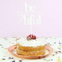'Be-you-tiful' Acrylic Cake Topper