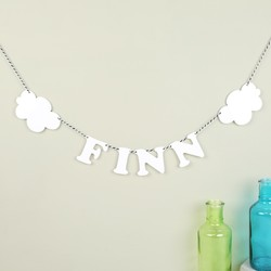 Personalised Acrylic Name and Cloud Garland