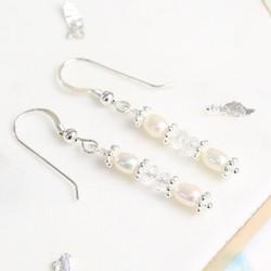 Handmade Crystal and Freshwater Pearl Drop Earrings
