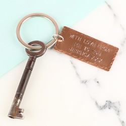 Personalised Copper Plaque Keyring