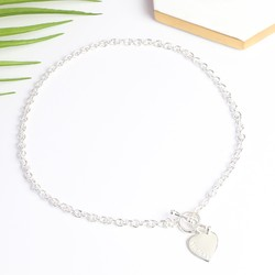 Personalised Sterling Silver Toggle Necklace