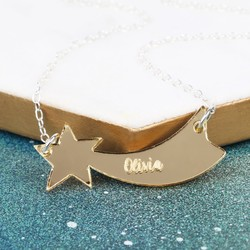 Personalised Acrylic Shooting Star Necklace