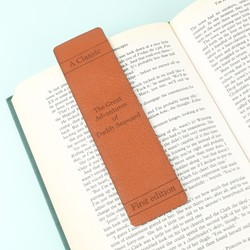 Personalised Leather 'Great Adventures' Bookmark