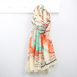 One Hundred Stars Tokyo Map Print Scarf