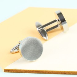 Men's Stainless Steel Disc Cufflinks