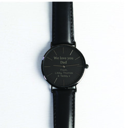 Personalised Black 'Love You Dad' Watch