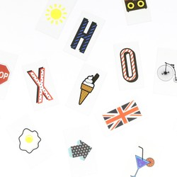 Pack of 85 Comic Style Letters & Symbols for A4 LED Light Boxes