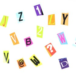 Pack of 85 Ransom Note Letters for A4 LED Light Boxes