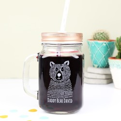 Personalised 'Daddy Bear' Mason Jar