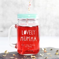 Personalised 'Lovely Mumma' Mason Jar