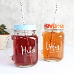 Engraved Hubs and Wifey Mason Jars