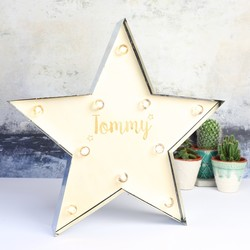 Engraved Industrial Metal LED Star Light