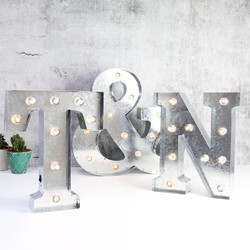 Industrial Metal LED Letter Light