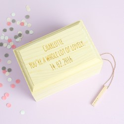 Personalised Mini Wooden Treasure Chest Trinket Box