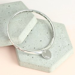 Personalised 'Good Friends Are Like Angels' Meaningful Word Bangle