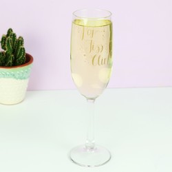 Engraved 'Pop, Fizz, Clink' Champagne Flute