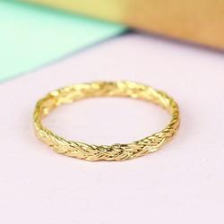 Orelia Braided Gold Midi Ring