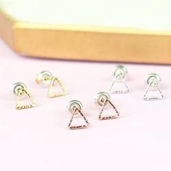 Orelia Set of 3 Open Triangle Stud Earrings