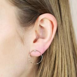 Orelia Hoop and Crystal Earrings
