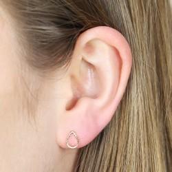 Orelia Open Gold Teardrop Stud Earrings