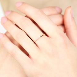 Orelia Rose Gold Asymmetric Crystal Ring