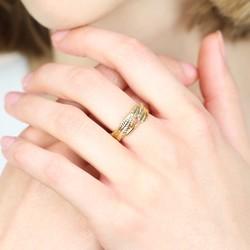 Orelia Wrap Around Open Feather Ring