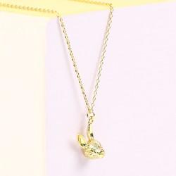 Orelia Gold Bunny Head Necklace