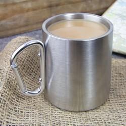 Stainless Steel Karabiner Mug