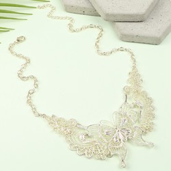 Gold Filigree Butterfly Statement Necklace