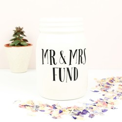 Sass & Belle Ceramic 'Mr & Mrs' Fund Jar