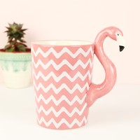 Sass & Belle Chevron Flamingo Mug