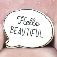 Sass & Belle 'Hello Beautiful' Speech Bubble Quote Cushion