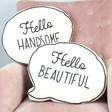 Sass & Belle 'Hello' Speech Bubble Cushions