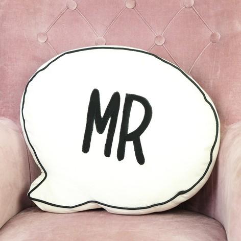 Sass & Belle 'Mr' Speech Bubble Quote Cushion