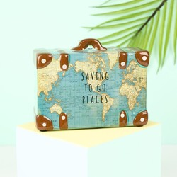Sass & Belle Travel Suitcase Money Box