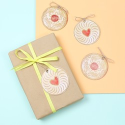 Jammy Dodger Biscuit Gift Tags