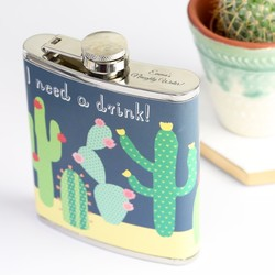 Sass & Belle Personalised Cactus Hip Flask